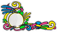 """Die Cut decal """"abstract swirl"""" by Serigraphic Screen Print"""