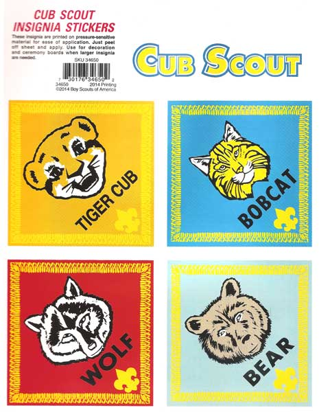 Cub Scouts Decals by Serigraphic Screen Print