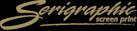 Serigraphics Screen Print Gold Logo